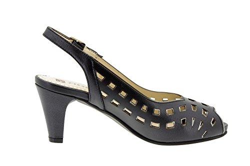 sandale 4279 confortables Piesanto femme escarpins en Chaussure Noir cuir confort amples CqFSCw7