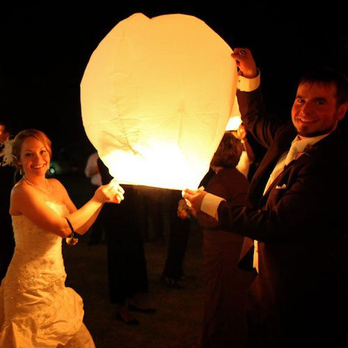 Sky Lanterns from Wishlantern®. Pack of 10 Wish Lanterns (Individually Wrapped)., Outdoor Stuffs