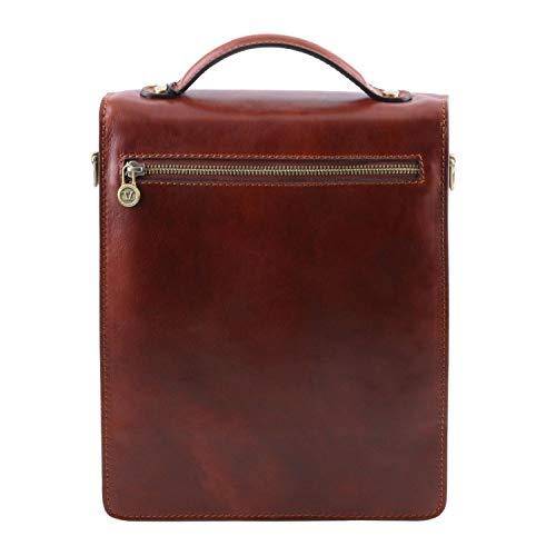 Leather Borsello Tuscany David Miele Grande A Misura Pelle In Tracolla vqdWFWAn