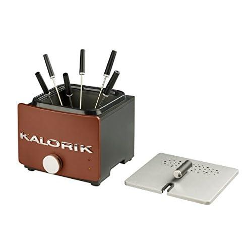 Team Kalorik FT22FOAZ Combiné fondue/friteuse 1L Cuve Anti-adhésive couvercle avec filtre anti-odeurs
