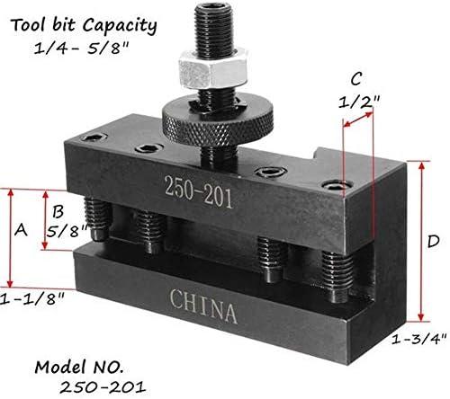 LKK-KK 250-201 Turning and Facing Holder Quick Change Tool Post and Tool Holder Lathes Kit Lathes