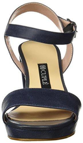 Cuple Kvinder Sandalia Pala Palme Azul Sandaler Med Ankel Rem Blå OVGsX