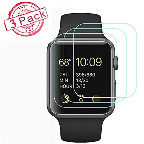 Apple Watch 38mm Tempered Glass Screen Protector (38mm Series 3/2/1 Compatible),[3 Pack] Anti-Scratch/Anti-Fingerprint…