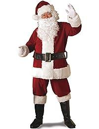 Regal Crimson Santa Suit With Gloves