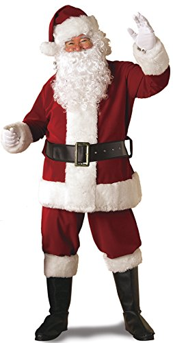 White Vinyl Gloves Costume (Rubie's Regal Crimson Santa Suit With Gloves,Crimson Red, Standard)