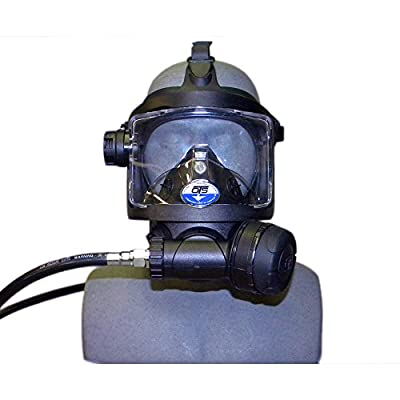 2017 OTS Guardian Black Full Face Scuba Mask
