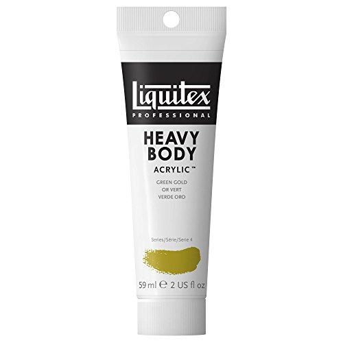 Body 2 Ounce Tube - Liquitex Professional Heavy Body Acrylic Paint 2-oz tube, Green Gold
