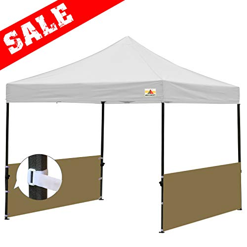 ABCCANOPY Sunwall Accessory, Two Half Walls for 10x10, 10x15, 10x20 Pop Up Paty Tent Canopy(2 Half Walls Only. Tent Purchased Separately) (Beige)