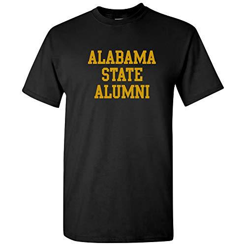 AS05 - Alabama State Hornets Block Alumni T-Shirt - Large - Black (Alabama Block)