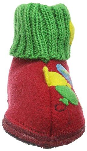 Haflinger Balloon - Zapatilla de estar Por casa Unisex Niños Rojo - Rot (ziegelrot 85)