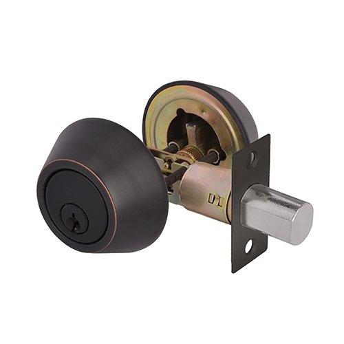TOGU ANSI GRADE 3 Heavy Duty Double Cylinder Deadbolt with Adjustable Backset,KW1 Keyways,Front Door lock For Home Entry Doors,Oil Rubbed Bronze