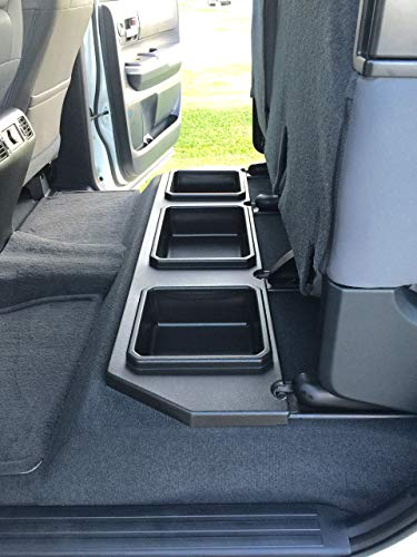 ESP Truck Accessories Plastic Under Seat Storage for 2014-2020 Toyota Tundra CrewMax