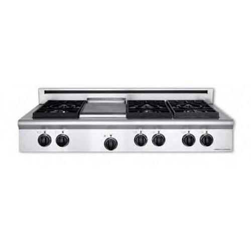 American-Range Legend Series 48 In. Stainless Steel Gas Rangetop - ARSCT486GDN American Range Legend Series