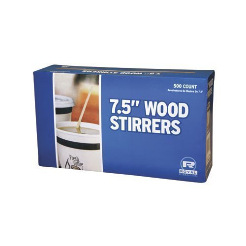 Royal 7-1/2 Inch Wood Coffee Stirrer 500-Pack (Pack of 2)