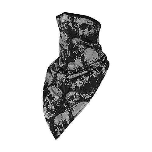 Unisex Sun Protection Skull Face Shield Dustproof Windproof Half Face Masks UPF 50 Neck Gaiter Breathable Lightweight Head Wrap Bandana for Riding Cycling Fishing Outdoors Sports Mask Music Festivals