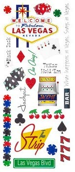 Las Vegas Glitter Travel Scrapbooking Stickers