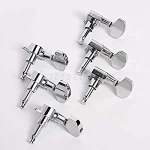 3l3r chrome guitar string tuning pegs tuners machine heads for guitar replacement. Black Bedroom Furniture Sets. Home Design Ideas