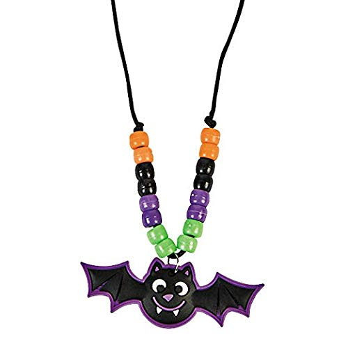 Halloween Rubber Bat Necklace Craft Kit-makes 12 -
