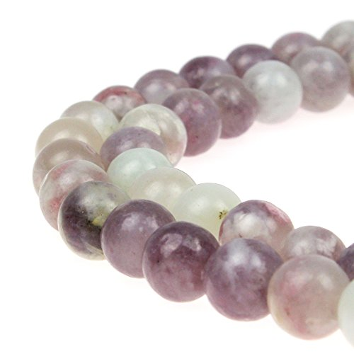 JARTC Best Sellers Natural Lilac Jade Round Loose Beads for Jewelry Making DIY Bracelet Necklace (12mm)