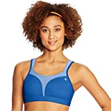 Champion Women's Spot Comfort Full Support Sports Bra, Surf The Web/Ocean Front Blue, 38C