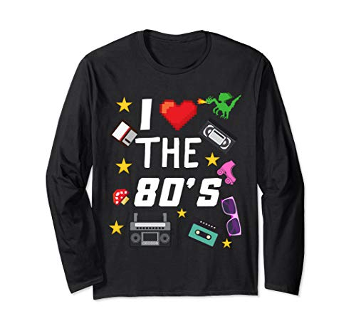 I Love The 80's Shirt, 80's Costume, 80's Party  Long Sleeve T-Shirt]()