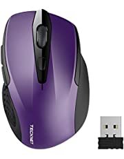 TeckNet Pro 2.4G Ergonomic Wireless Mobile Optical Mouse with USB Nano Receiver for Laptop,PC,Computer,Chromebook,MacBook,Notebook,6 Buttons,24 Months Battery Life,5 DPI Adjustment Levels