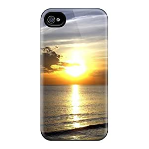 Design Bright Sunset Over The Sea Hard For Apple Iphone 4/4S Case Cover