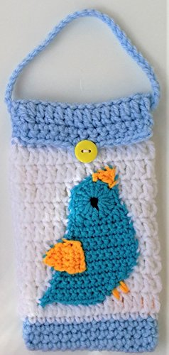 Birthday Gifts Under $13 Bird Crocheted handbag Cases For Cell Phone iPhone Android Bags Ideas Baskets Spring Summer Nature Birds Lovers Graduation Birthday Gifts For Mom Walking Running Women