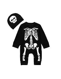Helloween Baby Costumes, Newborn Boy Girl Funney Pumpkin Romper Jumpsuit Outfits
