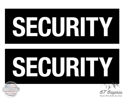 "GT Graphics Security Set of 2-18"" Each - Large Size Vinyl Stickers - for Truck Car Cornhole Board"