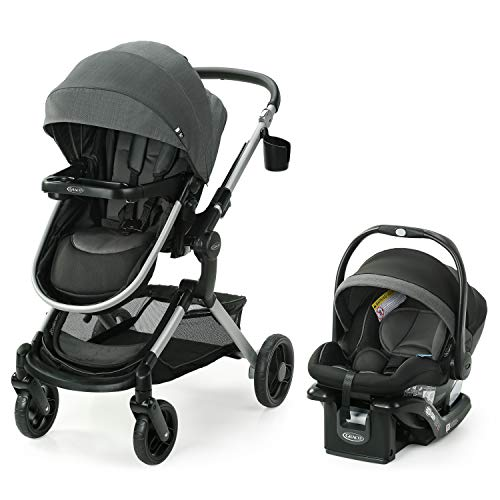 Graco Modes Nest Travel System | Includes Baby Stroller with Height Adjustable Reversible Seat, Bassinet Mode…