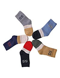 Vera Nuka Toddler Warm Cotton Terry Socks 5 Pack