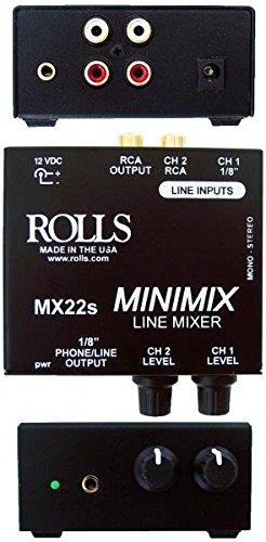 rolls MX22S Mini Mix 1/2 Rack Mic Source