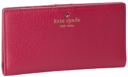 Kate Spade New York Cobble Hill Stacy PWRU2182 Wallet,Deep Pink,One Size, Bags Central