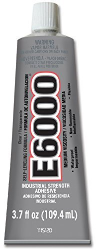 (Eclectic Products 230021 2 Pack 3.7 oz. E-6000 Medium Viscosity Multi-Purpose Adhesive Uncarded,)