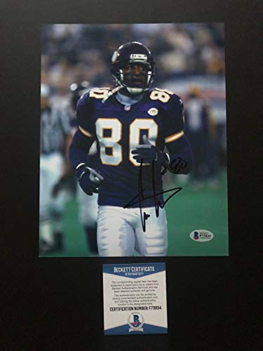 Cris Carter Hot Autographed Signed Vikings Hof 8x10 Photo Beckett Authentic (Cris Photograph Carter)