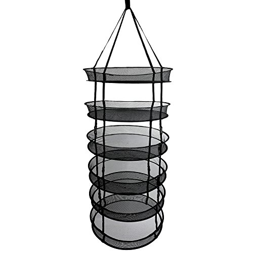 Discount Herb Drying Rack 2ft 6 Layer Herb Dryer Black Mesh Hanging Dry Net with Clip-On for cheap