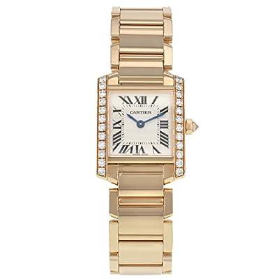 Cartier Tank Francaise WE10456H 18K Rose Gold & Diamonds Quartz Ladies Watch