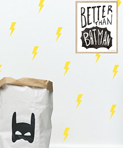 Yellow lightning bolt wall decals by Studio Picco | Boys room decor, Batman themed nursery, 24 - Lightning Modern