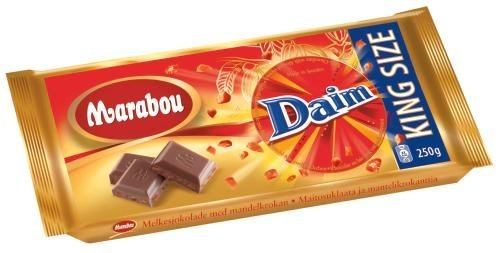 marabou daim milk chocolate bar king size 250g chocolates candies. Black Bedroom Furniture Sets. Home Design Ideas