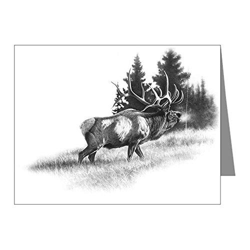 CafePress - Elk - Blank Note Cards (Pack of 20) Glossy