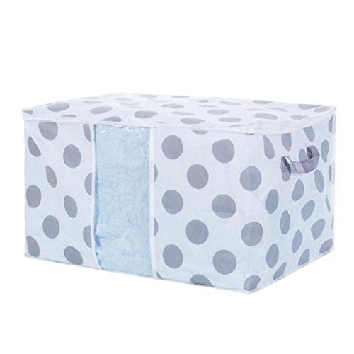 Price comparison product image Gotd Home Organizer Foldable Storage Bag Clothes Blanket Quilt Closet Sweater Organizer Box Pouches (B)