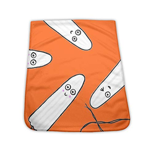 NiYoung Soft Breathable Cooling Towel Chilly Towel for Backpacking, Workout, Bowling, Extra Absorbent Dry Fast Ice Towel for Summer Hot Weather, Kawaii Tampons Orange