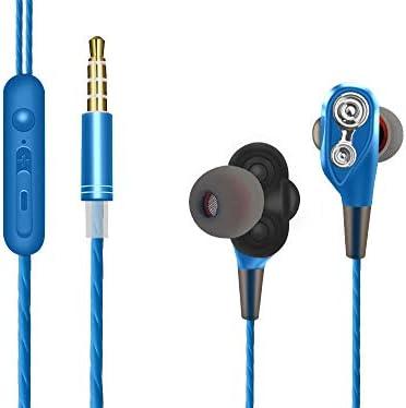 Auriculares compatibles con Xiaomi Redmi Note 7 auriculares con microfono doble altavoz in ear Dual Dynamic Drivers estereo auriculares con cable ...