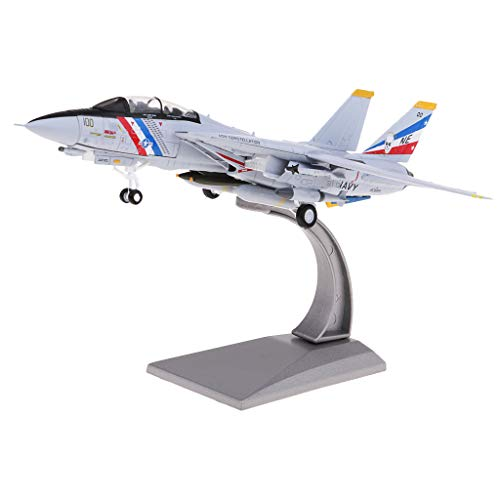 (Flameer 1/100 F-14 Tomcat Fighter Military Plane Airplane Toy Diecast Collectible Home Decor)