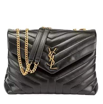 e05419422 Saint Laurent Loulou Monogram YSL Medium Quilted V-Flap Chain Shoulder Bag  Made in Italy: Handbags: Amazon.com
