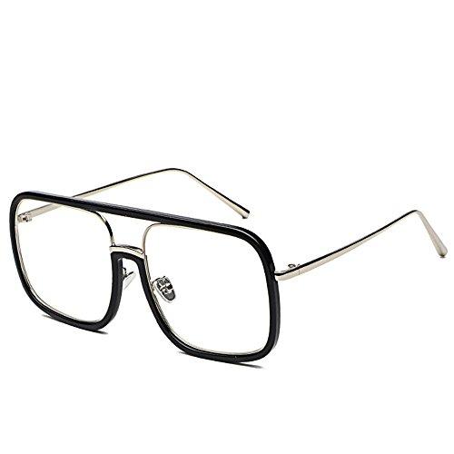 DESESHENME gafas de Hombres Mujer clásico Moda Gafas para transparente de Lente Mujeres sol hombres la de sol masculino borde Unisex sol Ojo de lente espejo de negro Gafas Gafas de para negro borde transparente Gato TqxPr1T
