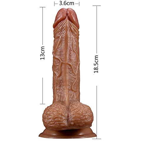 XIEKUABAOAA Impermeables Impermeables XIEKUABAOAA masajeador de PVC Masturbación para Adultos Masajeador de Silicona médica Potente Ventosa 46 * 46 * 5 cm eb5252