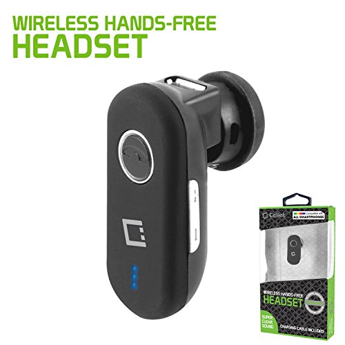 Cellet Black Mini Wireless Headset  & Other BT Supported Cel