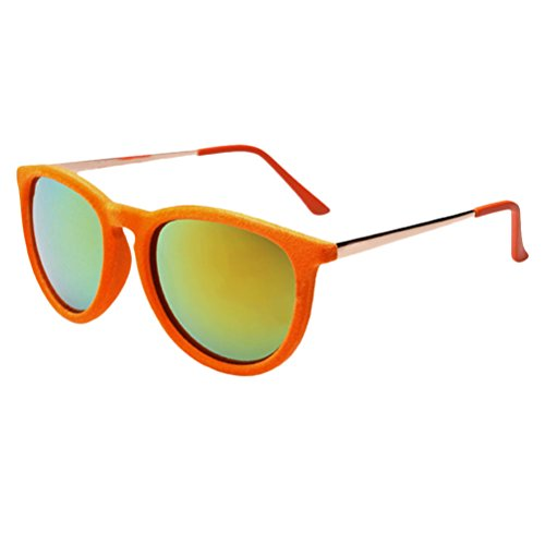 Film Orange Sunglasses Colorful for Unisex Plush Mens Sunglasses Fashion Zhhlaixing Personality Mode Bright HB7wYq